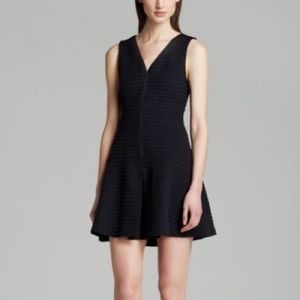 Theory Black Zip Up Dress